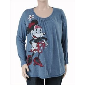 Motherhood maternity: disney plus size long sleeve scoop neck striped maternity t shirt
