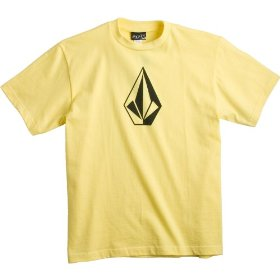 Kids - volcom the stone t shirt yellow m
