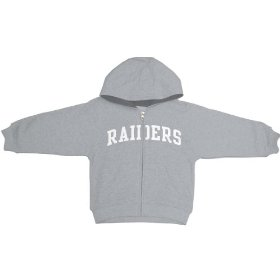 Reebok oakland raiders boys (4-7) full zip hooded sweatshirt