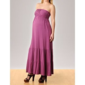 A pea in the pod collection: strapless smocked maternity maxi dress