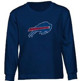 Reebok buffalo bills long sleeve boys (4-7) faded logo t-shirt