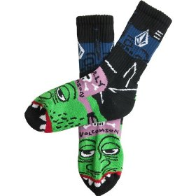 Kids - volcom f.a. ozzie right sock puppet-little boys