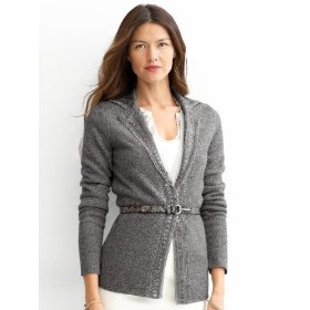 Banana republic embellished sweater jacket