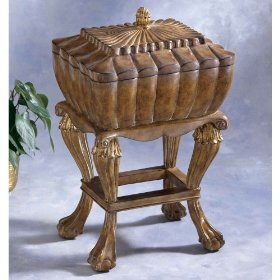 Butler heritage jewelry box on footed base 912070