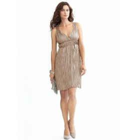 Banana republic petite crinkled athena dress