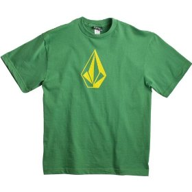 Kids - volcom the stone t shirt lawn green xl
