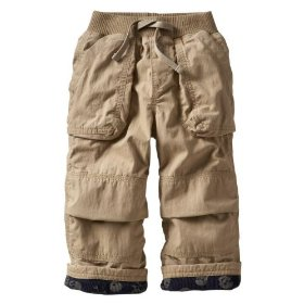Gap lined cargo pants