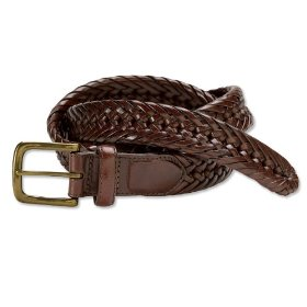 Braided latigo leather belt