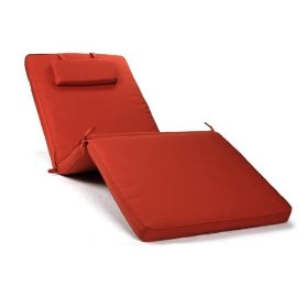 Ewins premium outdoor lounge/chaise cushion - brick