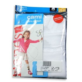 Hanes - toddler girls camis, white, 3 pack, tv30wh