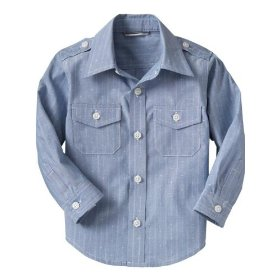 Gap blue dobby shirt