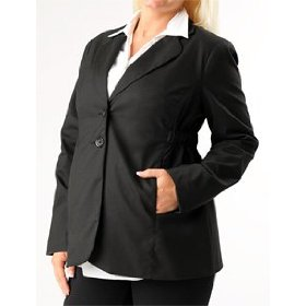 Motherhood maternity: button front bi-stretch suiting maternity jacket