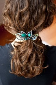 Treena Bean Vintage Fashion Jeweled Turquoise Rhinestone Hair Clip***FREE SHIPPING***CHECK OUT OUR O