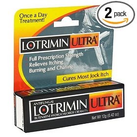 Lotrimin ultra cream for jock itch, .42-ounce tubes (pack of 2)