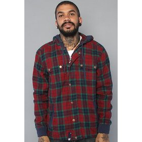Lrg the milestone jacket in maroon,jackets for men