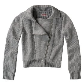 Girls' mossimo supply co. gray moto jacket style sweater