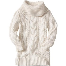 Gap cowlneck cable knit sweater tunic