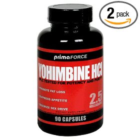 Primaforce yohimbine hcl capsules, 2.5 mg, 90-count bottles (pack of 2)