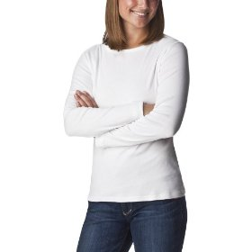 Cherokee® women's crewneck long sleeve tee - true white