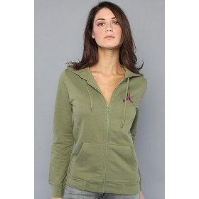 Wesc the wesc zip hoody in loden hood ,sweatshirts for women