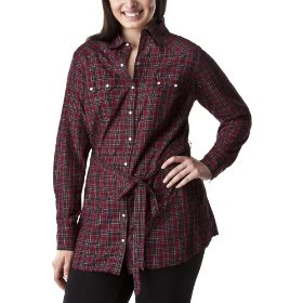 Women's plus-size converse® one star® red/black long-sleeve tunic