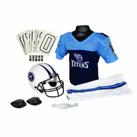 Franklin sports nfl tennessee titans deluxe youth uniform set