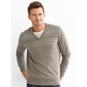 Banana republic fair isle v-neck sweater