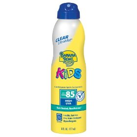 Banana boat kids clear ultra mist spf sunblock 85 6fl ounces, 6-ounce bottles (pack of 3)