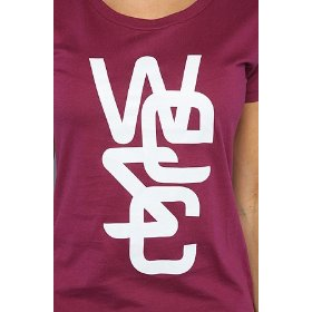 Wesc the overlay tee in velvet plum,t-shirts for women