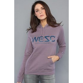 Wesc the wesc pullover hoody in purple ash hood ,sweatshirts for women