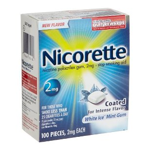 Nicorette white ice mint gum