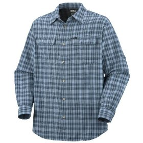 Columbia men's big and tall silver ridge plaid long sleeve shirt