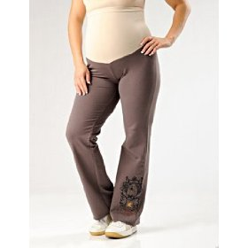 A pea in the pod: secret fit belly(tm) french terry screen print maternity lounge pants