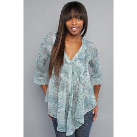 Rvca the tantra top,tops (l/s) for women