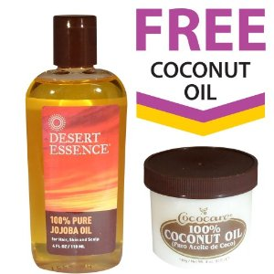 Desert Essence Pure Jojoba Oil + FREE 100% Coconut Oil