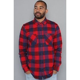 Lrg the present future buttondown shirt in red,buttondown shirts for men