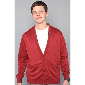 Lrg the shine on your dime cardigan in maroon,sweaters for men