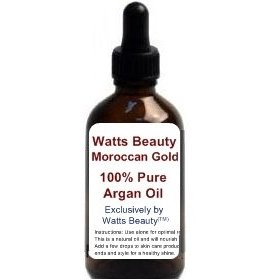 Watts moroccan beauty oil - 100% pure cold pressed raw argan oil /certified organic for professional