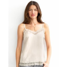 Banana republic silk charmeuse lace cami