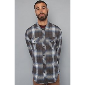 Rvca the creed plaid jacket in navy,jackets for men
