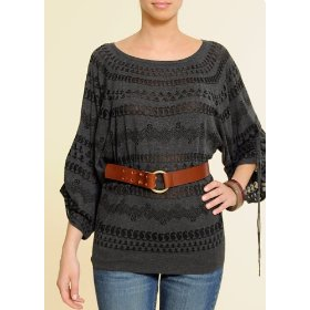Mango women's devore knitted sweater