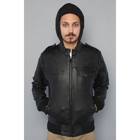 Nixon the deuce jacket in black,jackets for men