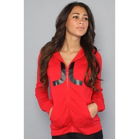 Wesc the icon zip hoody in red hood ,sweatshirts for women