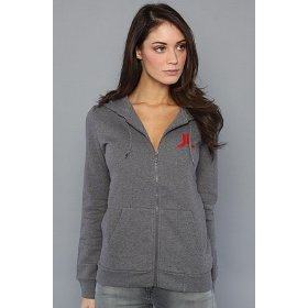 Wesc the overlay zip hoody in dark gray hood ,sweatshirts for women