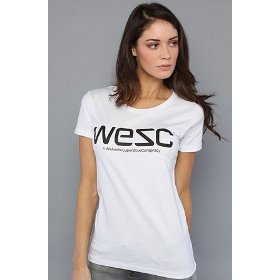 Wesc the wesc tee in white,t-shirts for women