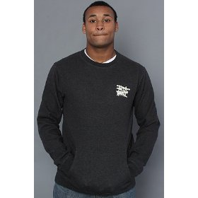 Altamont the no logo sweatshirt in black heather hood ,sweatshirts for men