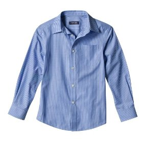 Boys' cherokee® blue stripe long-sleeve dress suit shirt