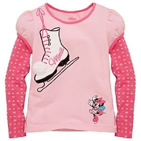 Disney double-up skating minnie mouse tee