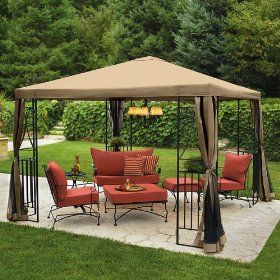 Outdoor patio pariesienne 10x10' gazebo