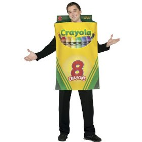Adult crayola box of crayons costume - adult std.